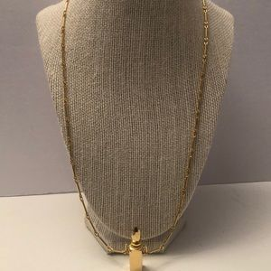 Vintage gold plated chain / bottle pendant
